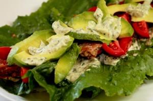 Garden Burger Lettuce Wrap with Avocado, Tomato, and Pesto Mayonnaise