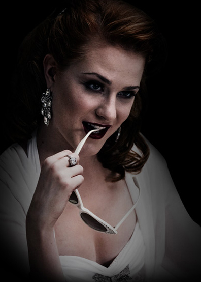 Evan Rachel Wood as Sophie-Anne, the Queen vampire in HBO's True Blood series